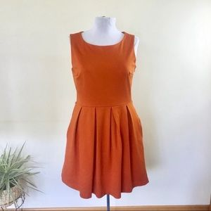 Tommy Hilfiger Burnt Orange Fit & Flare Dress